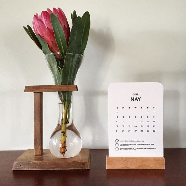 Make the world a happier place, one good deed at a time. We love local designer Made From Good Deeds calendars, which challenges people to perform three good deeds each month. What a great idea!