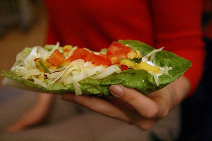 Tacoløfse, salsa, guacamole