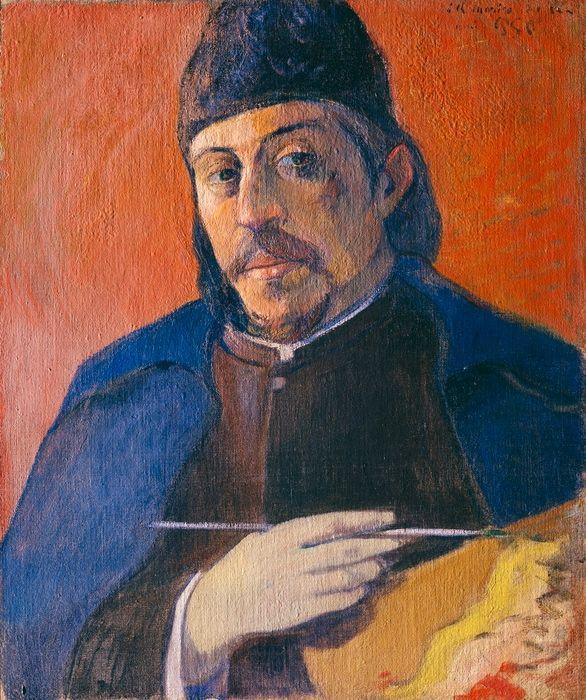 Paul Gauguin, 'Autoportrait à la palette', vers 1893/94  Huile sur toile, 92 x 73 cm Collection particulière  Format imprimable: 36 x 30 cm