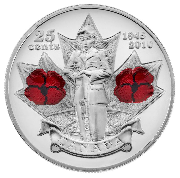 25-cent Poppy Circulation Coin (2010)