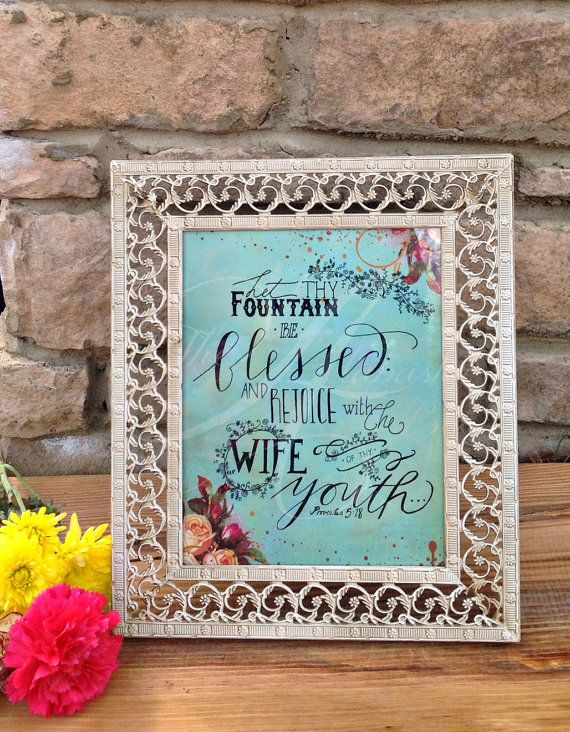 Beautiful Wedding Gift or Decor Engraved Frame with Handwritten Scripture Art / Anniversary / Newlyweds / Bridal / Home Decor / Wedding