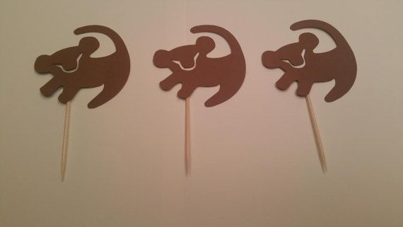 Lion King Hand Made Card Stock Cupcake Toppers  Party Birthday Special Occasion (24 toppers)