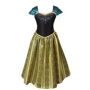 iEFiEL Robe Costume Déguisement Enfant Filles Princesse Manches courte 3-8 Ans