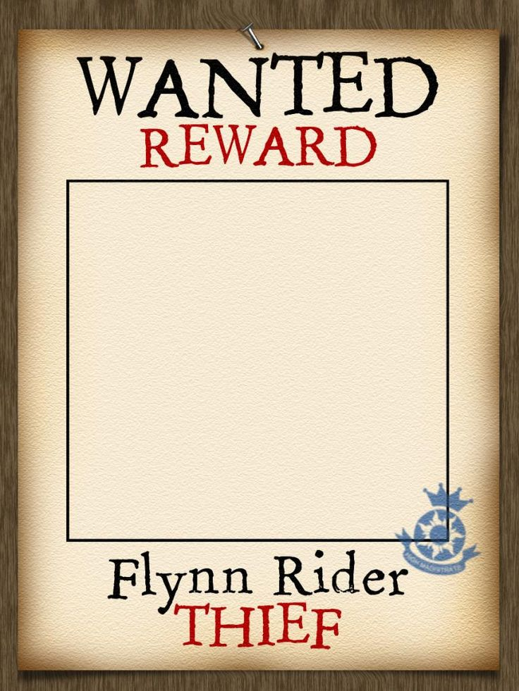 Printable Wanted Posters 10 well designed wanted poster template – Free Printable Wanted Poster