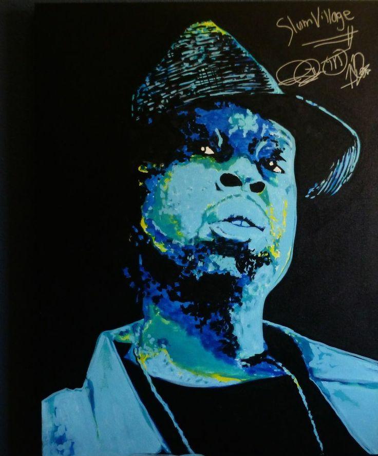 J.Dilla Memorial fine art painting autographed by Slum Village #IllustrationArt