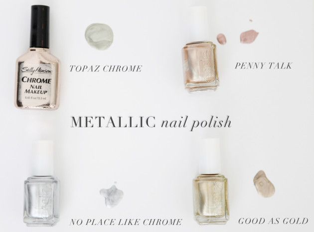 best metallic and gold nail polishes