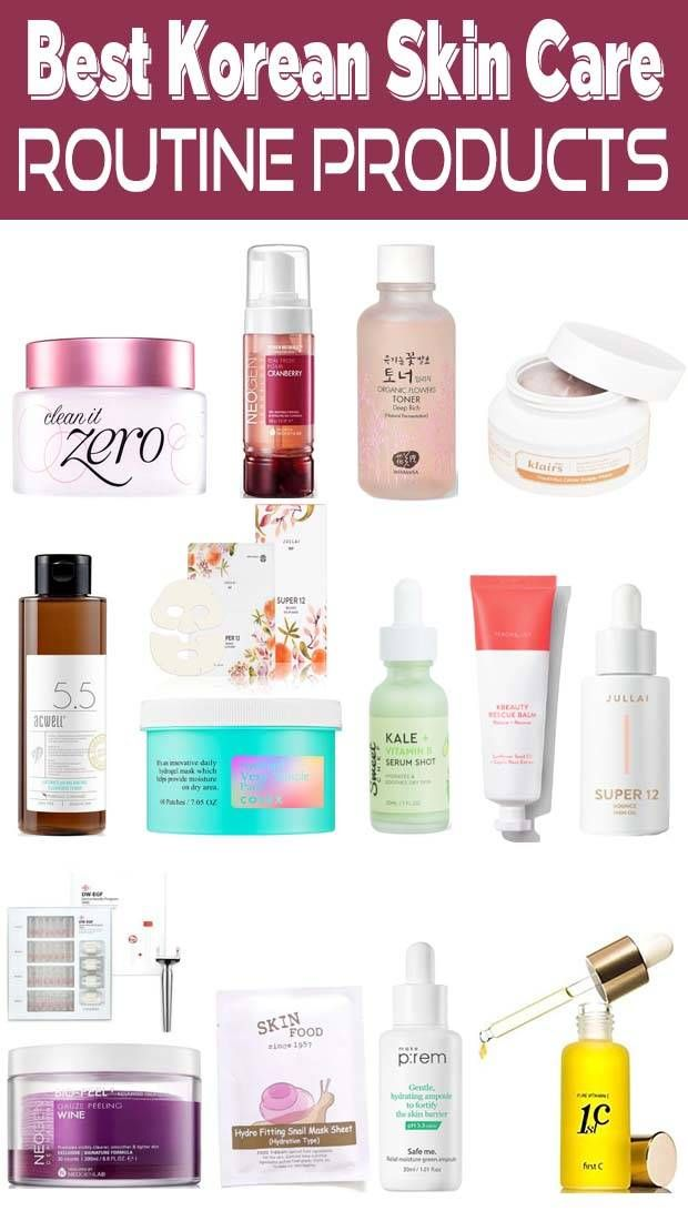 Best Korean Skin Care Routine Products 2020 In 2020 Korean