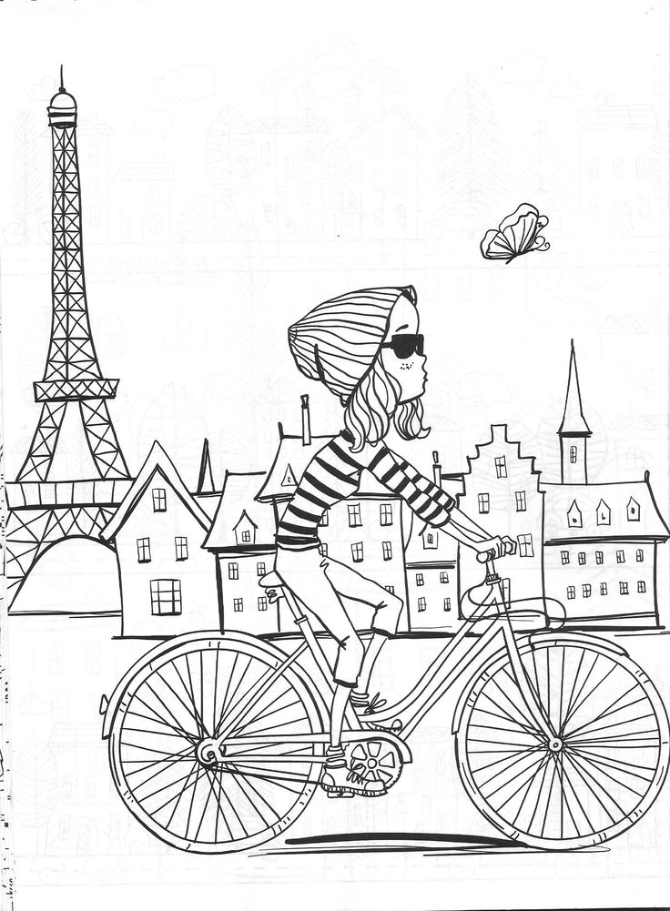 45 best Paris colouring and doodling journal images on