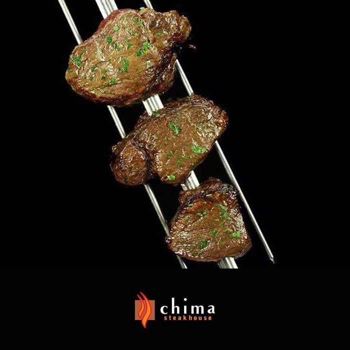 """Our Filet Mignon has an amazing flavor because of the special preparation process made by our Meat Chefs (Gauchos) with Ghee Butter. You must try this evening! Do not forget... It's Guest Appreciation Week at Chima Steakhouse! Receive $10 off Rodizio Dinner TODAY and tomorrow and from April 17th to 20th! You must mention the code: """"GUEST WEEK"""" when making your reservations."""