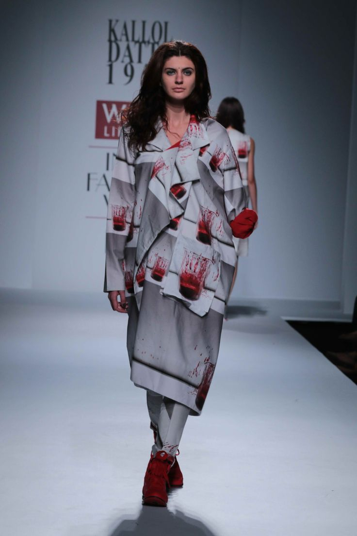 Greys, reds and blacks dominated the ramp.