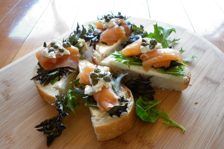 Check out this amazing smoked salmon bruschetta!!!! recipe available for download today Julz's Kitchen