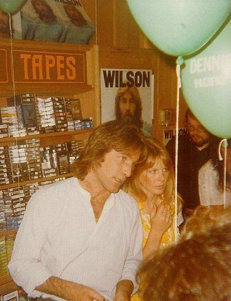dennis wilson and karen, October 1977 Licorice Pizza Record Store, Sunset Strip