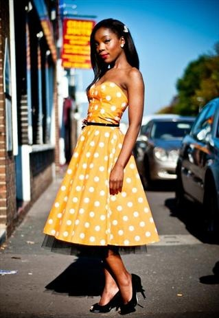 Rockabilly 50s Style Polka Dot Dress