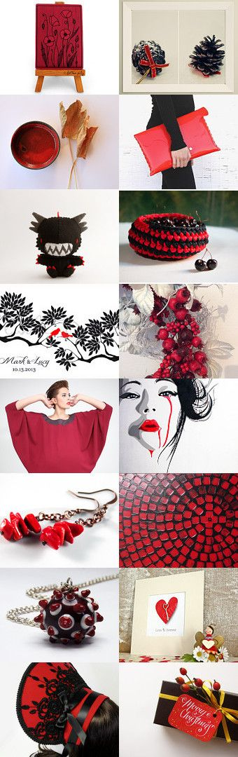 This is a treasury to celebrate the 3000 members of the Etsyitaliateam Red passion by Laura on Etsy--Pinned with TreasuryPin.com