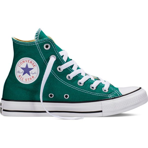 Converse Chuck Taylor All Star Fresh Colors – rebel teal Sneakers ($55) ❤ liked on Polyvore featuring shoes, sneakers, rebel teal, converse high tops, star shoes, star sneakers, teal blue shoes and rubber sole shoes
