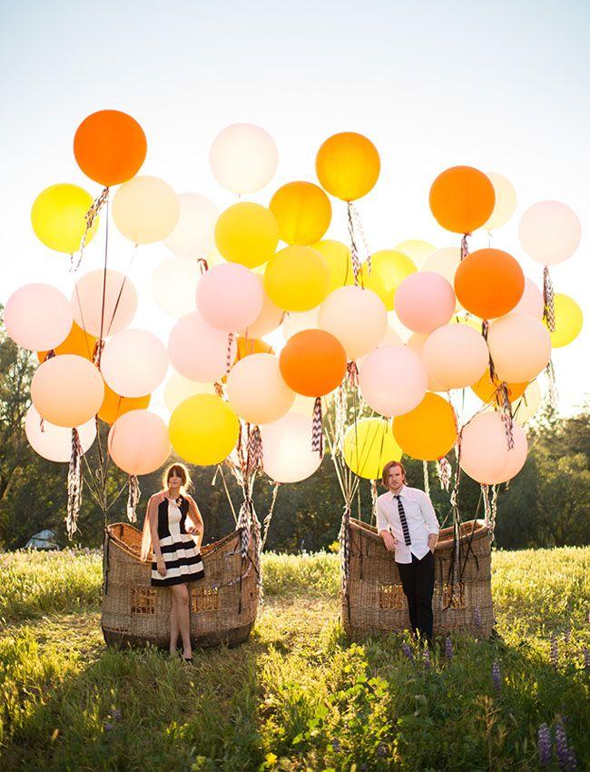 Balloon basket inspiration from Found Vintage Rentals