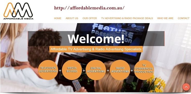 Affordable Advertising Deals by creating TV advertising & radio advertising campaigns that work for them. Advertising that's effortless, affordable, effective. For more details visit our website http://www.affordablemedia.com.au/