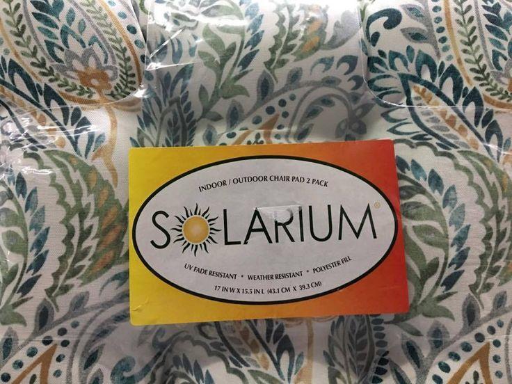 NEW SOLARIUM Indoor/Outdoor Chair Pads - 2 PACK   Home & Garden, Yard, Garden & Outdoor Living, Patio & Garden Furniture   eBay!