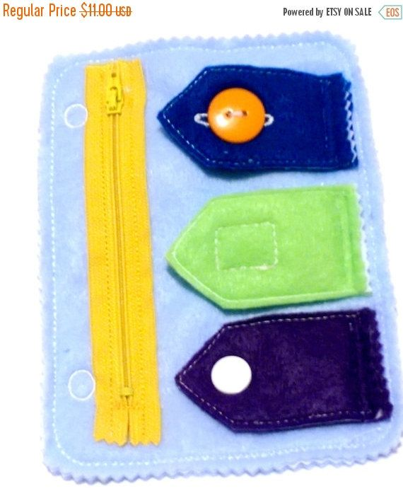 ON SALE Quiet activity book addon page Closures zipper, button, snap, and velcro educational game busy bags quiet book