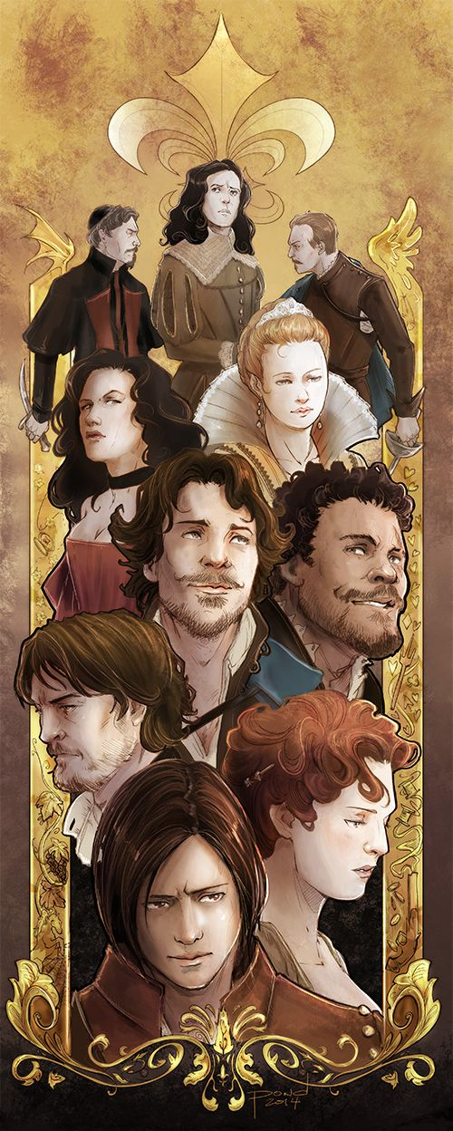 The Musketeers fan art, season 1 (OMG! I've been hanging out for this since I first saw the WIPs and now it's done! Sooo pretty <3)