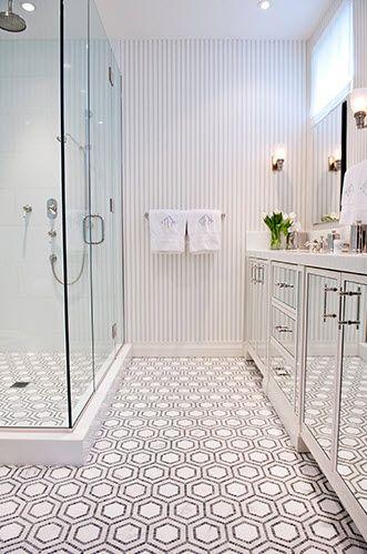 Fun bathroomsBathroom Design, Bathroom Interior, Floors, Modern Bathroom, Interiors Design, Bathroom Ideas, Shower, Mosaics Tile, Design Bathroom