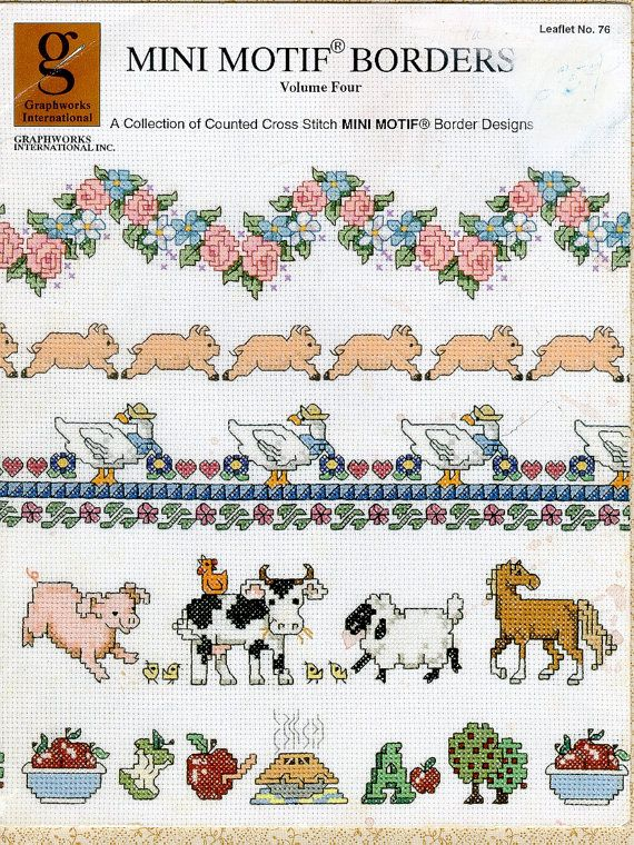 Country Borders Cross Stitch Embroidery Patterns Flowers
