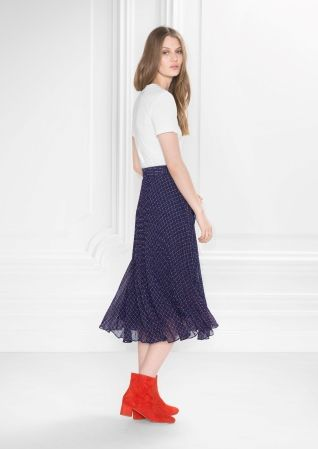 & Other Stories image 3 of Pleated Midi Skirt in Indigo