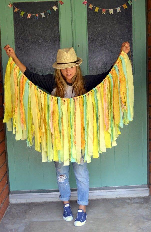 DIY fabric garland | Little Miss Momma