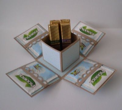 idea for explosion box (tea + chocolate) (Diy Box Love)