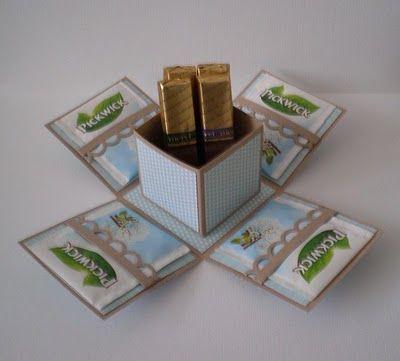 idea for explosion box (tea + chocolate)