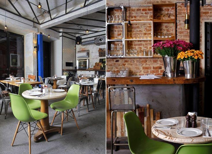Mistura do r stico ao design contempor neo marcam o - Interiores de restaurantes ...