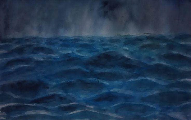 Storm - Búrka - akvarel