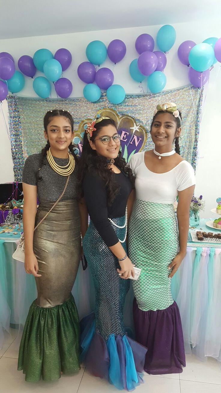 Diy mermaid party  costume