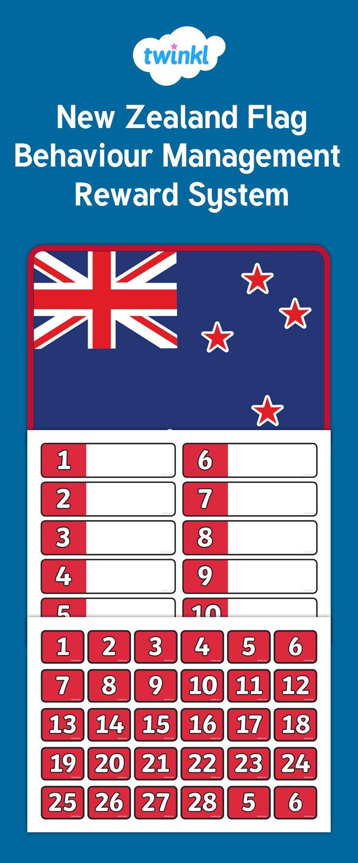 Behaviour Management using the New Zealand flag.