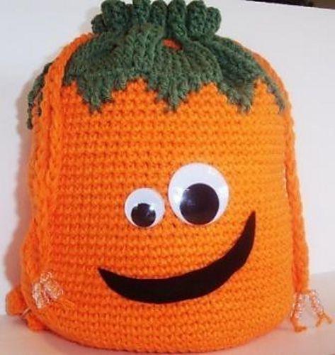 Ravelry: Silly Pumpkin Backpack Crochet Pattern pattern by Carrie Pechtel