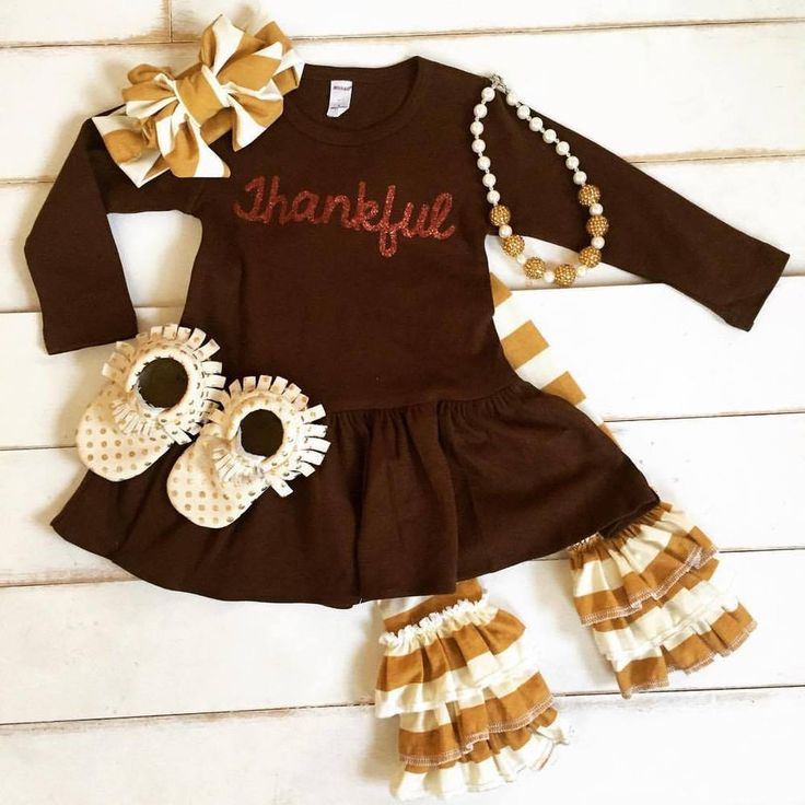 Thanksgiving girls outfit. Thankful 4 piece pre-order, $58.00