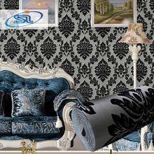 3d tapete europa damast herde tapeten tapeten papel de parede geprägte non-woven Wohnzimmer TV Hintergrund(China (Mainland))