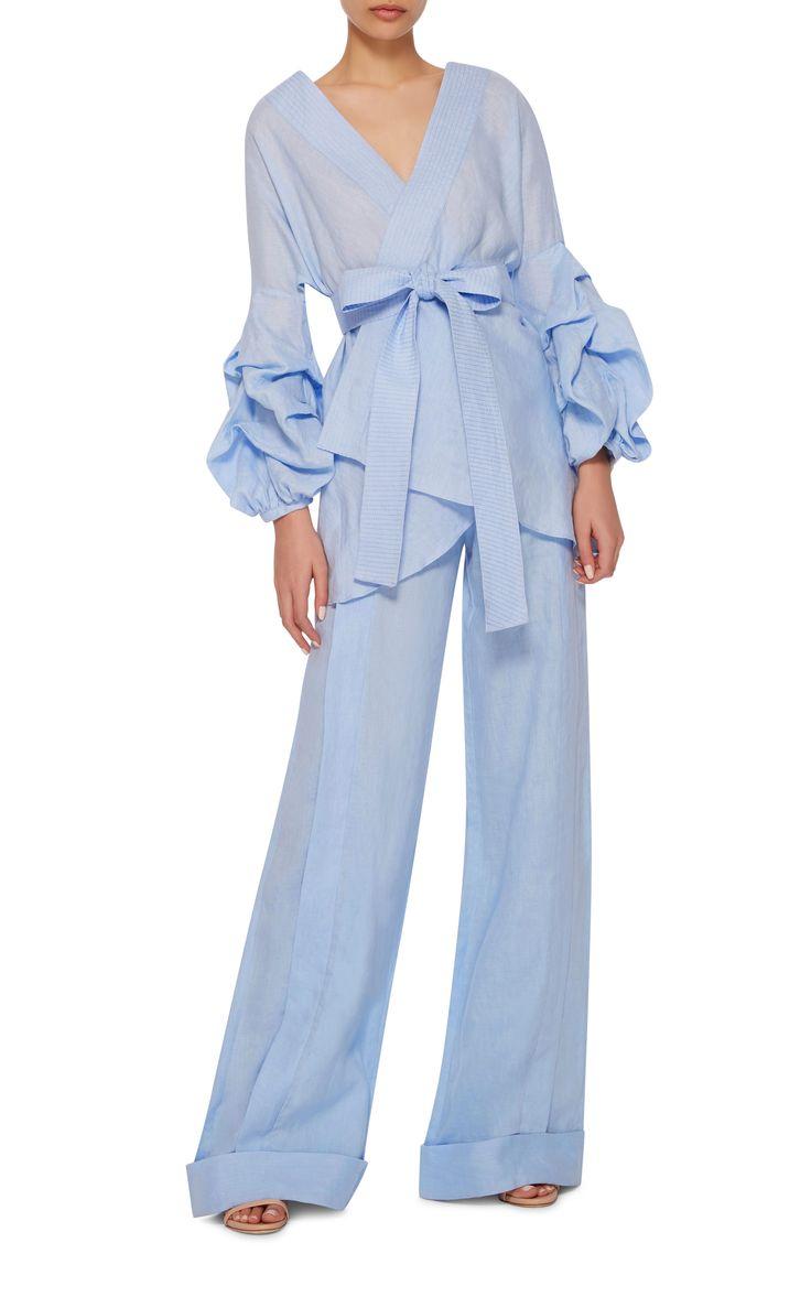 Mahi Tie Blouse by JOHANNA ORTIZ Now Available on Moda Operandi