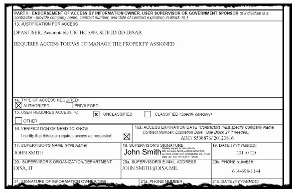 User Access Request Form Template Beautiful Dd Form 2875
