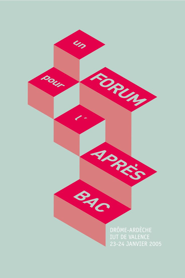 Poster, (2005) — Visual identity of Forum après-bac, by Superscript