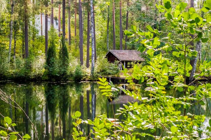 A peaceful lake near the Vierumäki center.