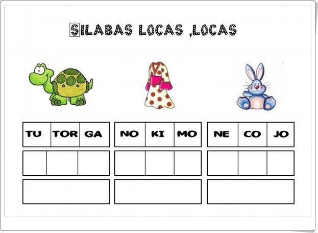Sílabas locas, locas (Cuadernillo de lectoescritura de Lucía Gómez)