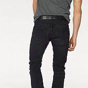 """Мужские джинсы """"James"""" от марки Bruno Banani отличаются зауженным силуэтом, оригинальной неравномерной расцветкой и декоративной простежкой в области коленей. Классические 5 карманов - плюс один, который застегивается на молнию. Джинсы выполнены из очень удобного эластичного хлопка и отлично смотрятся с футболками, толстовками и кожаными куртками. Длина брючин по внутреннему шву размера 34 ок. 81 см, ширина брючин внизу 38 см. за 4599р.- от Otto"""
