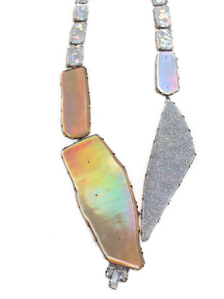 Nikki Couppee Necklace: Neogem, 2015 Plexiglass, brass, fine silver, sterling silver, found objects