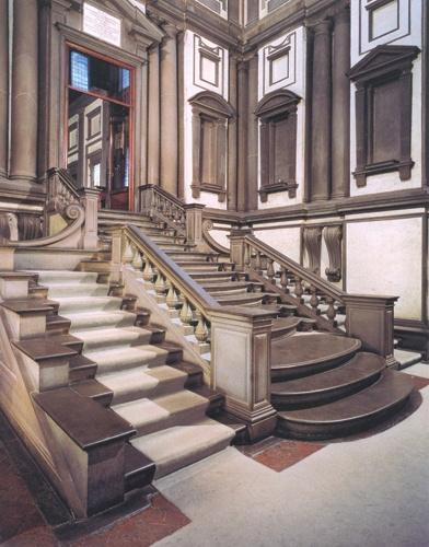 메디치 도서관 계단