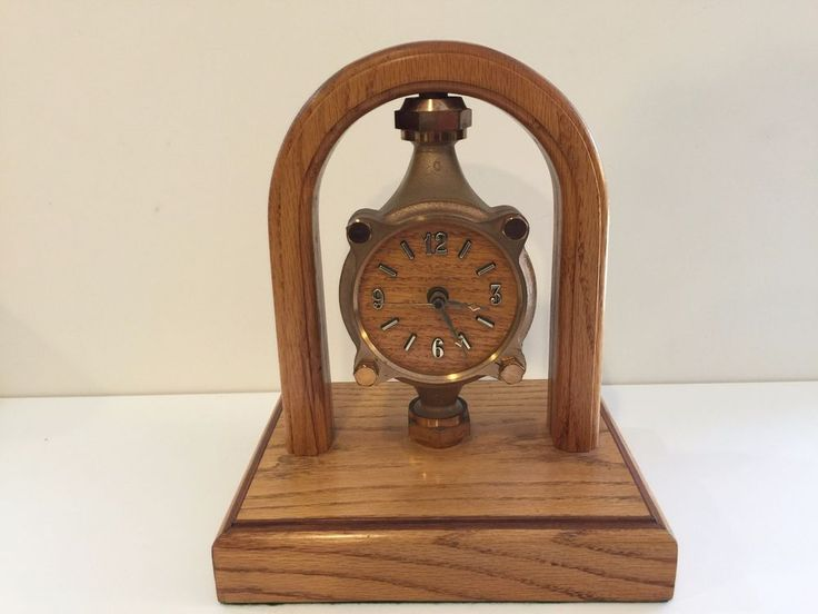 Vintage Rockwell International Water Meter Table Quartz Clock w/Oak Frame #VintageRetro