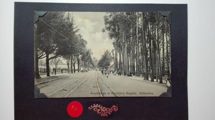 avenida de la republica bogota carrera 7 postal antigua foto