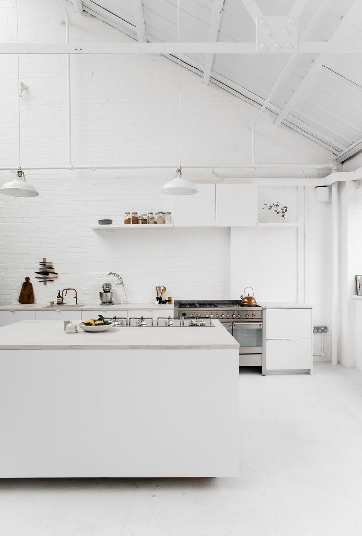Scandi all white kitchen