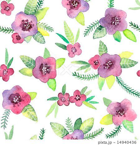 かわいいすみれの花のイラスト