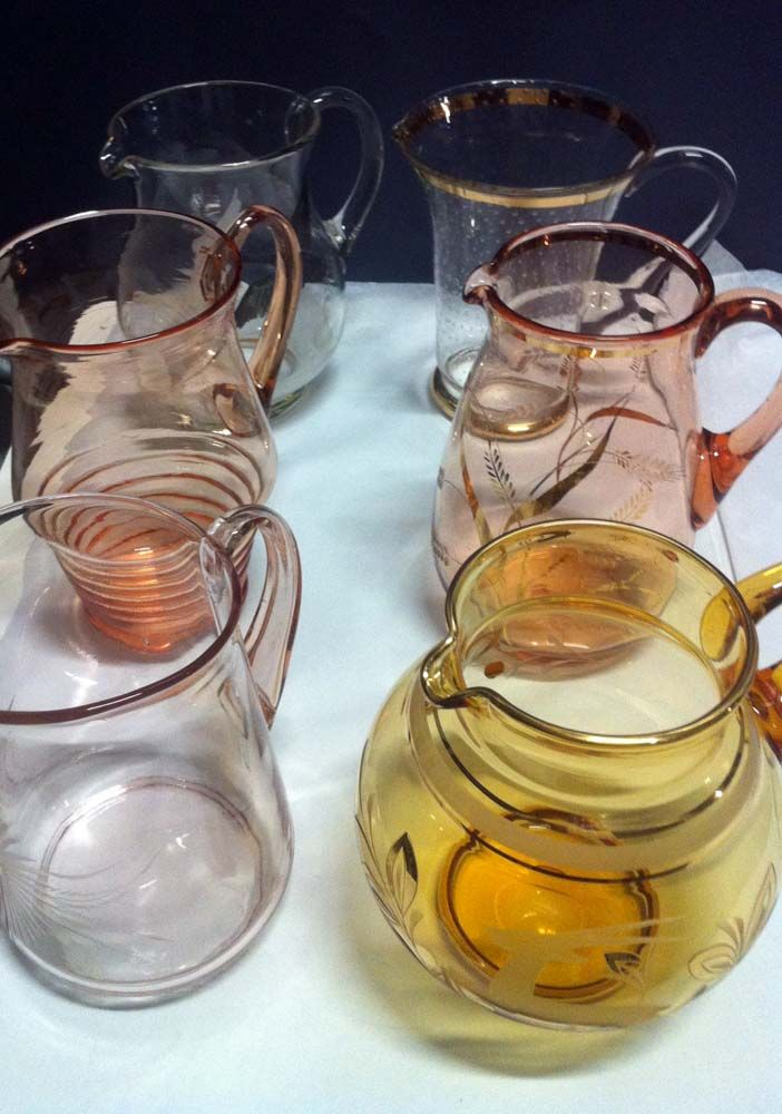 Colourful water jugs